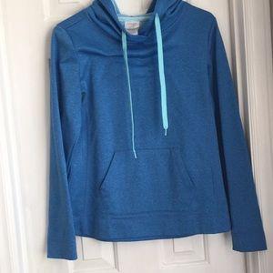Danskin bright blue sweatshirt